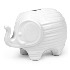 White Elephant Coin Bank
