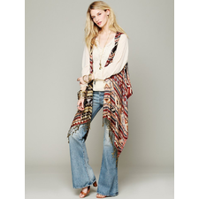 Free People Mojave Reversible Poncho Vest at Free People Clothing Boutique
