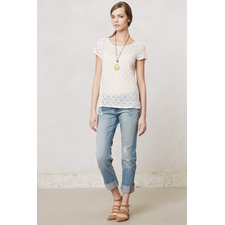 Pinhole Lace Tee - Anthropologie.com